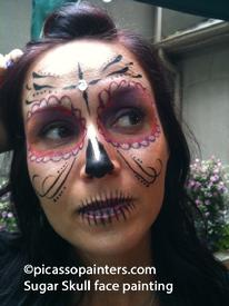 Sugar Skull Face Painting